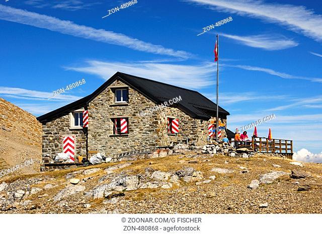 Berghütte Cabane des Diablerets des Schweizer Alpen-Clubs, Les Diablerets, Schweiz / Refuge Cabane des Diablerets of the Swiss Alpine Club, Les Diablerets
