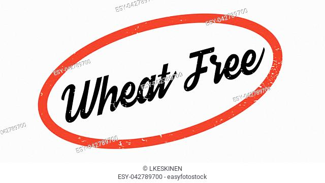 Wheat Free rubber stamp. Grunge design with dust scratches. Effects can be easily removed for a clean, crisp look. Color is easily changed