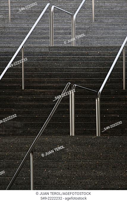 PRINCE PHILIP MUSEUM STAIRS; CITY ARTS AND SCIENCES, VALENCIA, SPAIN