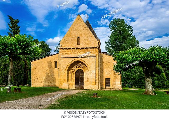 SOUILLAC, FRANCE - JUNE 22, 2012: church in Souillac on June 22th, 2012 at Dordogne Perigord France