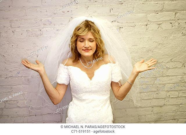 Bride meditating