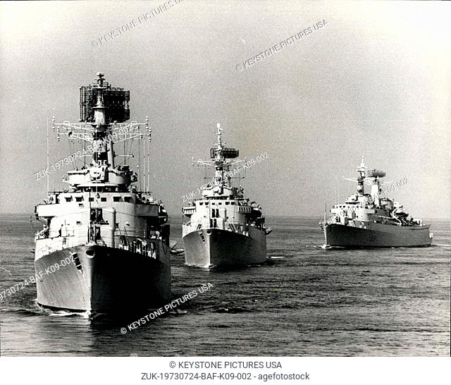 Jul. 24, 1973 - NATO Maritime Demonstration (Exercise Sally Forth): A major demonstration of maritime power arranged by the Ministry of Defence for the Defence...