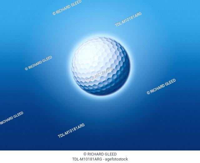 A golf ball, plain background