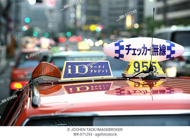 Taxi cab, Tokyo, Japan, Europe