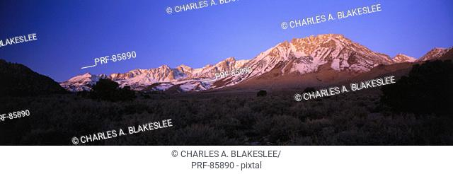 Mt Tom Eastern Sierra Nevada Mountain Range CA