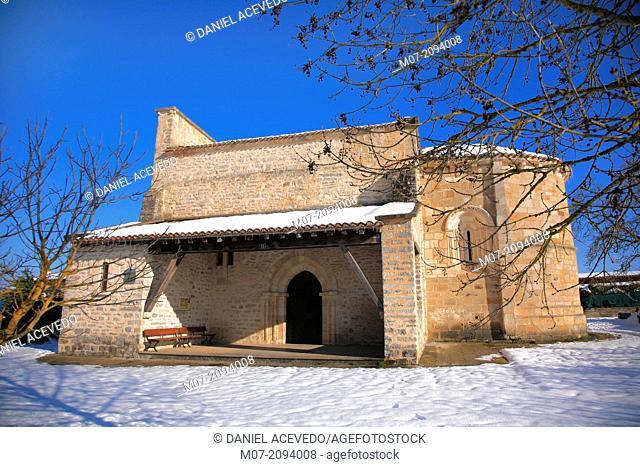 Gazeo church, Alava, Basque Country, Spain, Europe