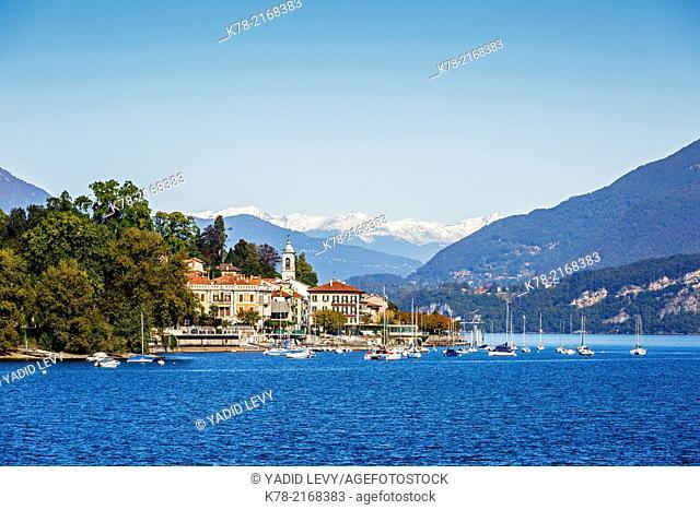 View over Belgirate, Lake Maggiore, Piedmont, Italy