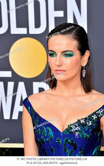 LOS ANGELES, CA. January 06, 2019: Camilla Belle at the 2019 Golden Globe Awards at the Beverly Hilton Hotel. © 2019 JRC Photo Library/PictureLux ALL RIGHTS...