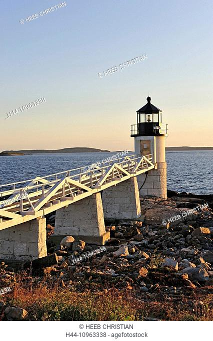 USA, United States, America, East Coast, New England, coastal, rocky, coast, Marshall Point, Rockland, lighthouse