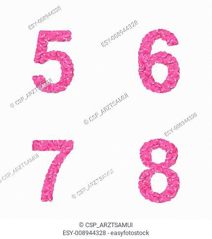 Font from rose petals