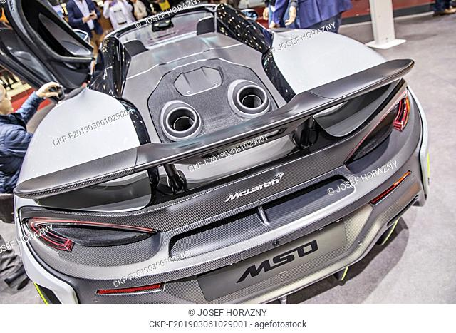 McLaren MSO was presented during the 2019 Geneva International Motor Show on Wednesday, March 6th, 2019. (CTK Photo/Josef Horazny)