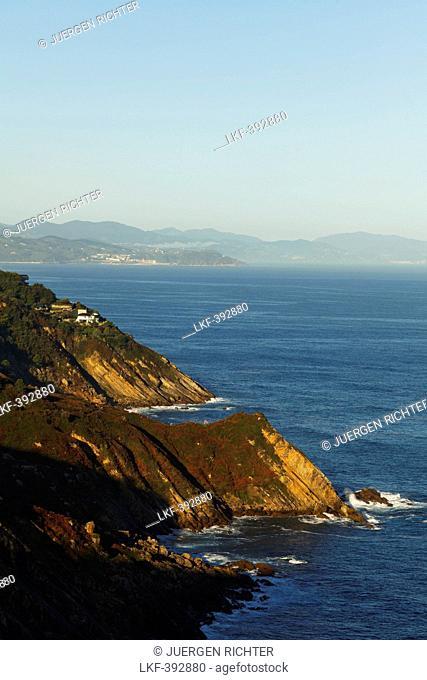 View of coast area and Atlantic ocean, San Sebastian, Donostia, Camino de la Costa, Camino del Norte, coastal route, Way of St