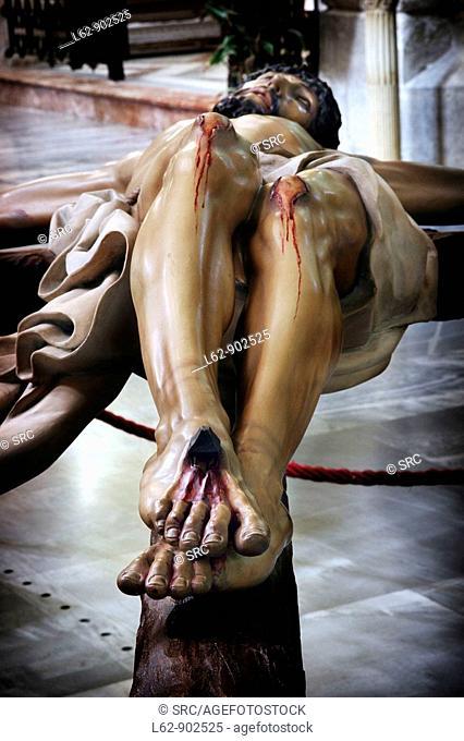Cristo de Zalamea carving, Orihuela. Alicante province, Comunidad Valenciana, Spain