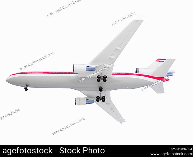 aircraft isolated view