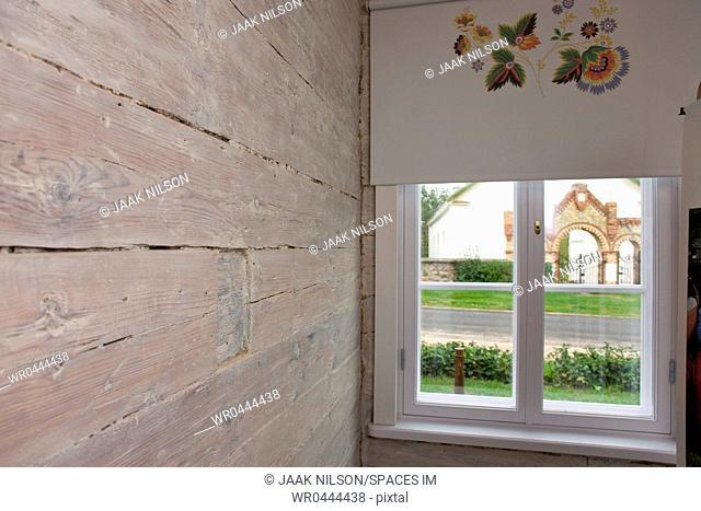 Window In Old log Cabin