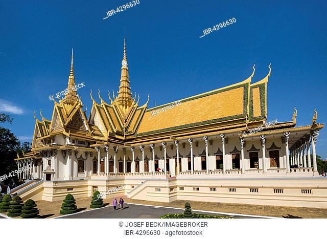 Throne hall, Preah Tineang Tevea Vinichhay, coronation hall, Royal Palace, Phnom Penh, Cambodia