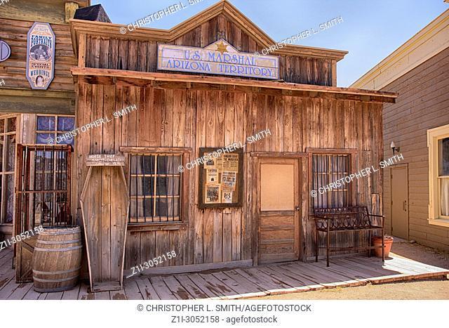 US Marshal's office at the Old Tucson Film Studios amusement park in Arizona