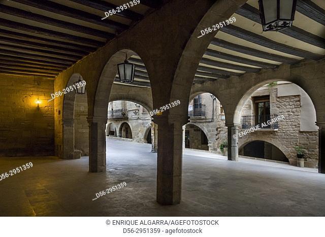 Street, La Fresneda, Matarraña, Teruel province, Aragon, Spain
