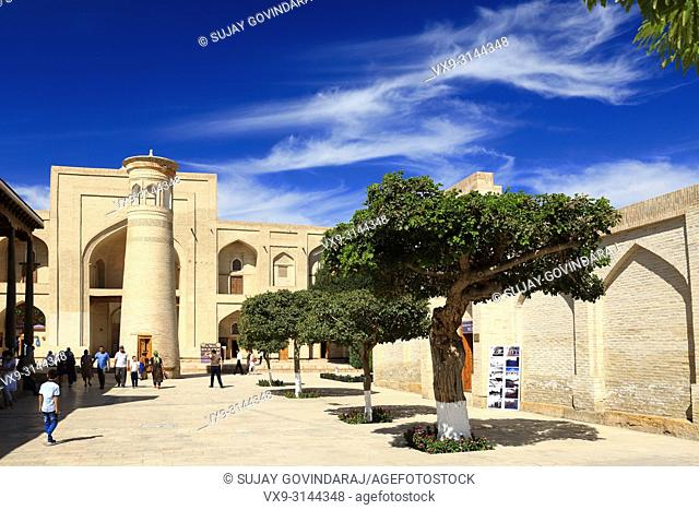 Bukhara, Uzbekistan - August 28, 2016: Tourists at Memorial complex of Khoja Bakhouddin Naqshbandi, a most important pilgrimage place for Islam