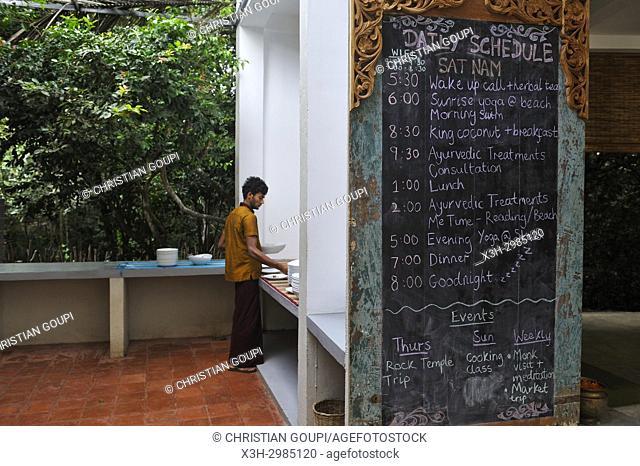 Sen Wellness Sanctuary, near Tangalle, South Coast of Sri Lanka, Indian subcontinent, South Asia