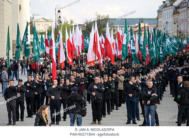 On 29. April 2017 members and supporters of Polish right-wing extremist organization 'ONR' celebrated the 83. anniversary of their founding with a march in...