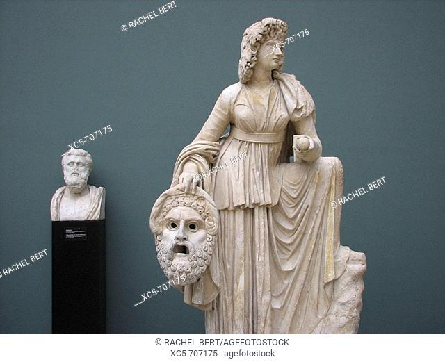 Ny Carlsberg Glyptotek. Melpomene (muse of tragedy). Monte Calvo, 2nd century A.D. marble