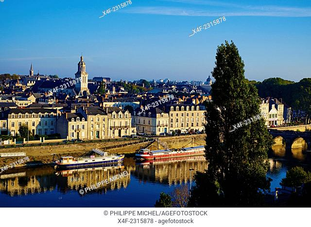 France, Maine-et-Loire, Angers, the city on the Maine river bank