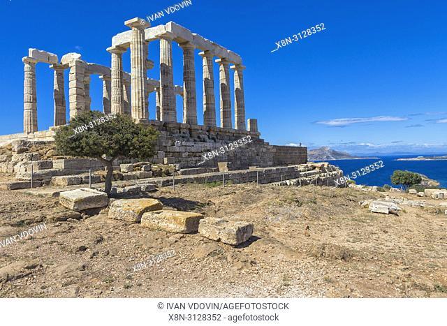 Poseidon temple (440 BC), Cape Sounio, Sounion, Attica, Greece
