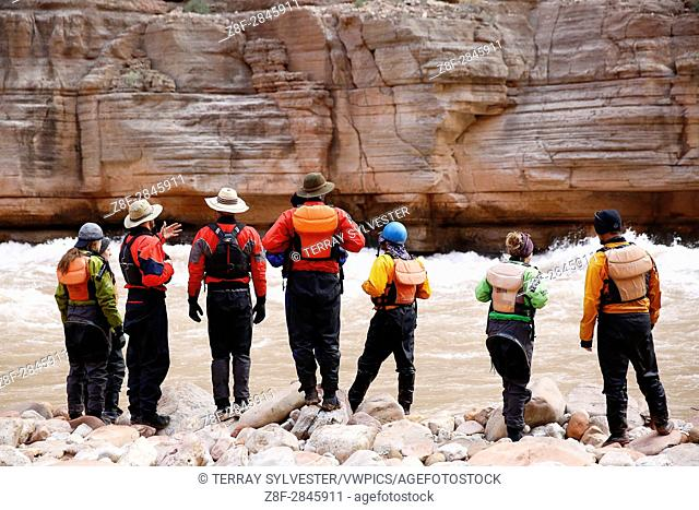 Rafters in Grand Canyon National Park, Arizona, United States
