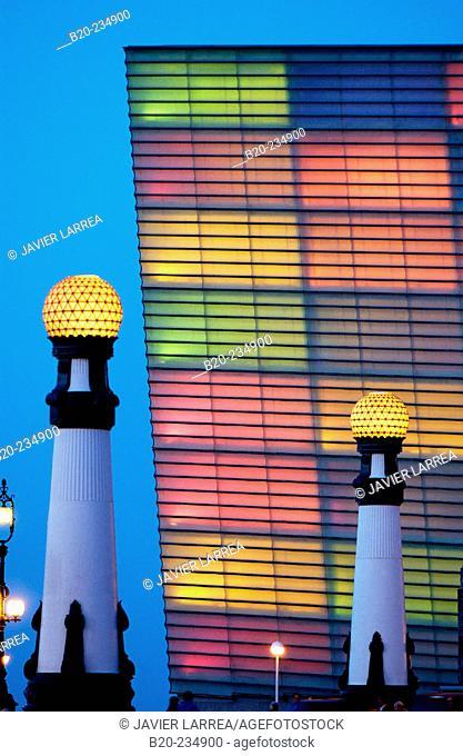Carnival lights at Kursaal Center, by Rafael Moneo. San Sebastián. Spain