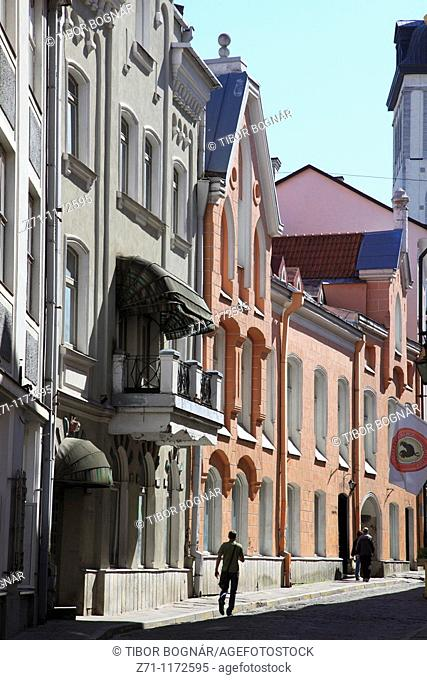 Estonia, Tallinn, street scene, typical architecture