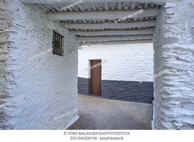 Alpujarras in Granada at Pampaneira village of Andalusia Spain