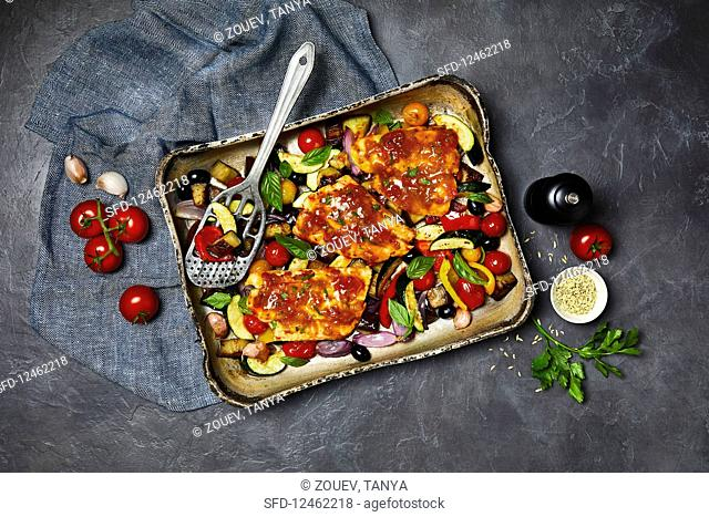 Fish with Provencal vegetables