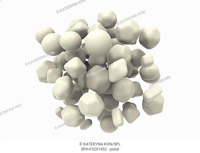 Zinc oxide nanoparticles, illustration
