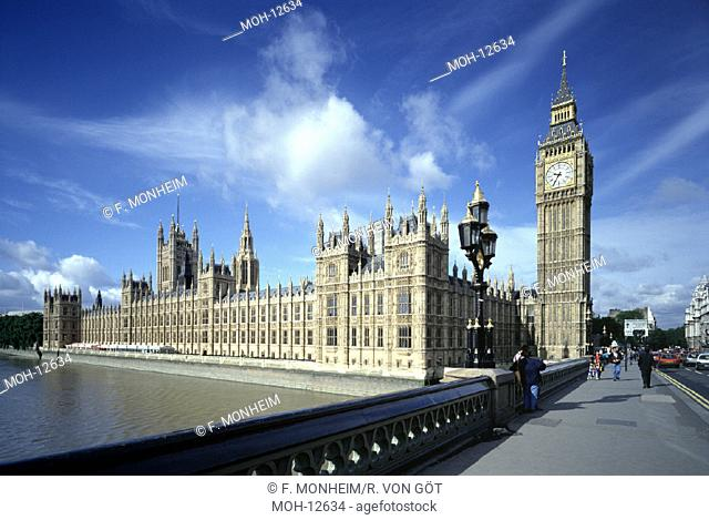 London, House of Parliament/ Westminster Bridge mit Big Ben