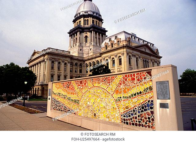Springfield, capitol, State Capitol, Statehouse, IL, Illinois, The Illinois State Capitol building in the capital city of Springfield, Illinois