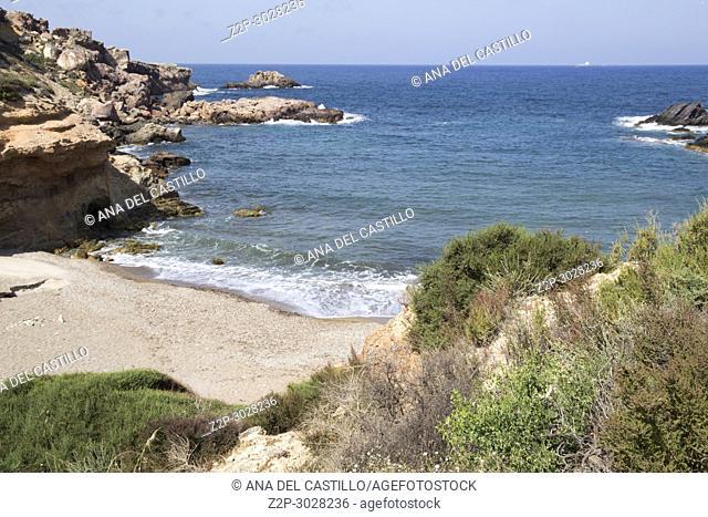 Mediterranean sea in Cartagena, Murcia, Spain