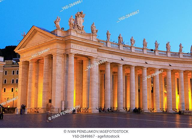 St Peter's Basilica at Dusk, Vatican City