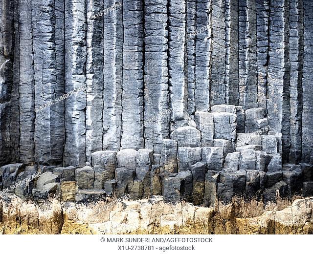 Basalt Columns on the Isle of Staffa Argyll and Bute Scotland
