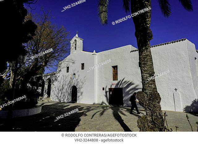 Traditional and unique church in Ibiza