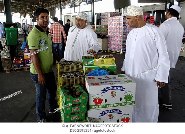 MUSCAT, OMAN Mawaleh Central Fruits and vegetable market near airport