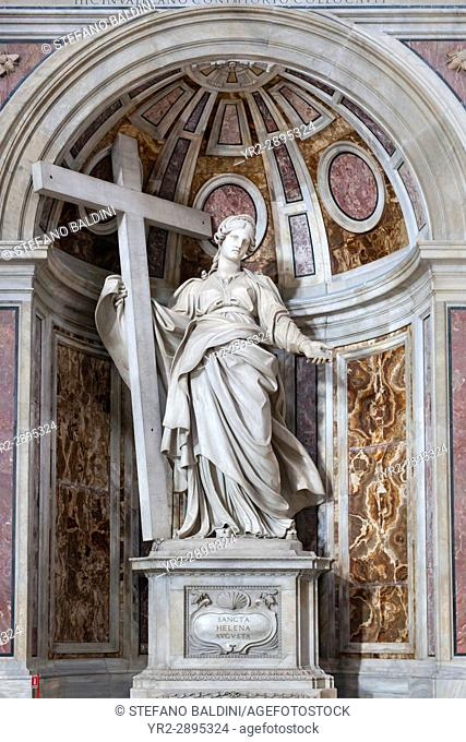 Statue of St. Helena in St. Peter's Basilica, Vatican City, Italy