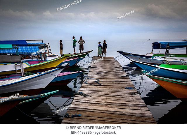 Jetty and small boats, Riung, Flores, East Nusa Tenggara, Indonesia