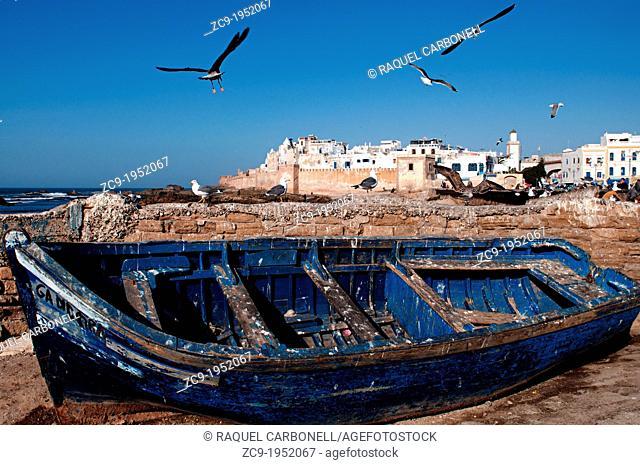 Essaouira medina view from the port. Essaouira, Morocco
