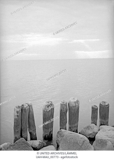 Elbinger Höhen, Abendstimmung bei Succase, Ostpreußen, 1930er Jahre. Elbing heights, evening at Vistula Lagoon, near Succase, East Prussia, 1930s