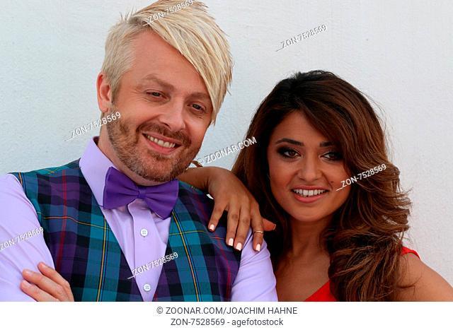 Ross Antony (Saenger / Musiker) und Maria Voskania (Saengerin / Musikerin) in der ARD-TV-Sendung