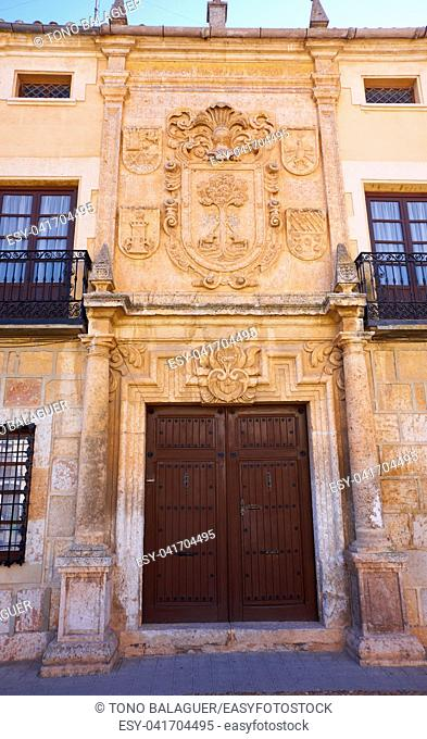 La Roda facade in Albacete at Castile La mancha of Spain
