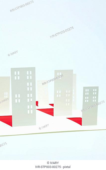 Building Structure Model With White Background