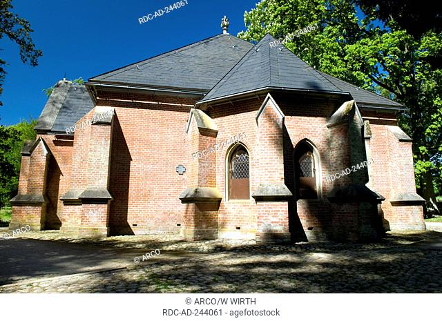 Mausoleum castle park Putbus Isle of Rugen Mecklenburg-Western Pomerania Germany Rügen