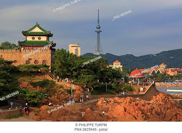 Asia, China, Shandong Province, Qingdao. Lu Xun Park